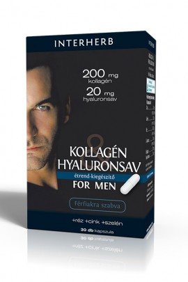 INTERHERB Kollagén&Hyaluronsav for Men kapszula 30db